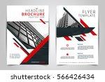 cover design annual report... | Shutterstock .eps vector #566426434
