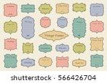 vector set of vintage frames on ... | Shutterstock .eps vector #566426704