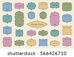 vector set of vintage frames on ... | Shutterstock .eps vector #566426710