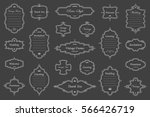 vector set of vintage isolated...   Shutterstock .eps vector #566426719