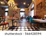 interior of a modern urban... | Shutterstock . vector #566428594