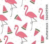 vector print  with pink... | Shutterstock .eps vector #566439544