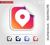 colored icon or button of geo... | Shutterstock .eps vector #566446198