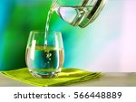 clean drinking water is poured... | Shutterstock . vector #566448889