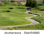 Image Of A Winding Cart Path On ...