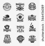 vector set of colored baseball... | Shutterstock .eps vector #566456089