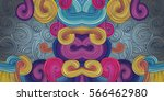 endless abstract pattern... | Shutterstock .eps vector #566462980