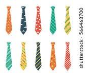 set of neckties with different... | Shutterstock .eps vector #566463700