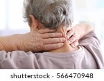 elderly woman suffering from...   Shutterstock . vector #566470948