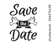 save the date wedding... | Shutterstock .eps vector #566476138