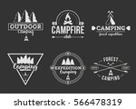 forest camping logo set black... | Shutterstock .eps vector #566478319