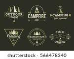 forest camping logo set   Shutterstock .eps vector #566478340