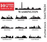 silhouettes cities of usa set 2.... | Shutterstock .eps vector #566478634
