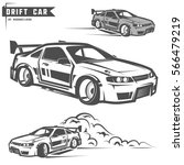 drift sport team print for t... | Shutterstock .eps vector #566479219