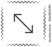 arrows corner sign line vector...