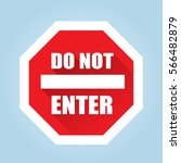 do not enter sign   flat vector ... | Shutterstock .eps vector #566482879