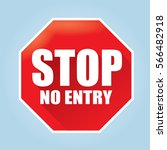 stop no entry sign   flat...   Shutterstock .eps vector #566482918
