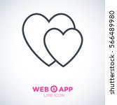 two heart  linear vector icon... | Shutterstock .eps vector #566489980