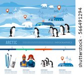 travel to antarctica... | Shutterstock .eps vector #566491294