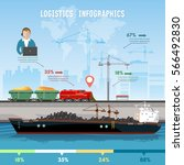 global delivery concept... | Shutterstock .eps vector #566492830