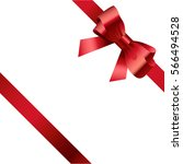 red bow and ribbon 2 | Shutterstock .eps vector #566494528