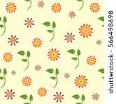 floral pattern. flowers and... | Shutterstock .eps vector #566498698