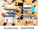 interacting as team for better... | Shutterstock . vector #566499208