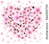 apricot branch. japan cherry....   Shutterstock .eps vector #566505754