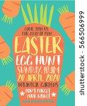 carrot easter egg hunt... | Shutterstock .eps vector #566506999