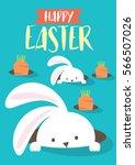 easter bunny egg hunt template... | Shutterstock .eps vector #566507026