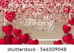 happy valentines day romantic... | Shutterstock .eps vector #566509048