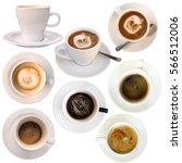 a set of isolated cups of... | Shutterstock . vector #566512006