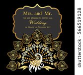 vintage invitation and wedding... | Shutterstock .eps vector #566519128