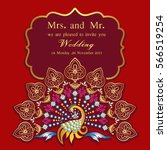 vintage invitation and wedding... | Shutterstock .eps vector #566519254