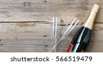 champagne. champagne bottle and ...   Shutterstock . vector #566519479