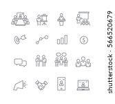 business and meeting set icons... | Shutterstock .eps vector #566520679