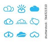 vector cloud icons set  cloud... | Shutterstock .eps vector #566521510