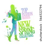 new spring collections design... | Shutterstock . vector #566522794