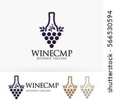 wine company. grape  bottle ... | Shutterstock .eps vector #566530594