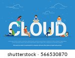 cloud computing concept... | Shutterstock .eps vector #566530870