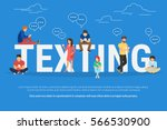 texting messages concept... | Shutterstock .eps vector #566530900