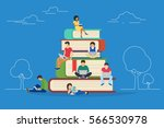e learning concept illustration ... | Shutterstock .eps vector #566530978