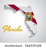 map of florida . abstract... | Shutterstock .eps vector #566539108