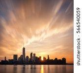 Sunrise Over Lower Manhattan ...