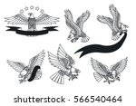 vector american eagles set...