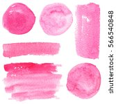 set of watercolor stain. spots... | Shutterstock . vector #566540848