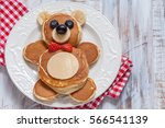 Funny Bear Pancakes With...