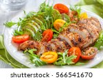 healthy food. salad plate with...   Shutterstock . vector #566541670