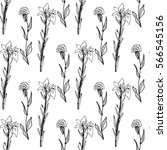 white seamless pattern with... | Shutterstock .eps vector #566545156