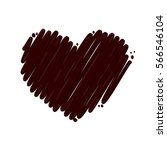 heart chocolate heart drop... | Shutterstock .eps vector #566546104